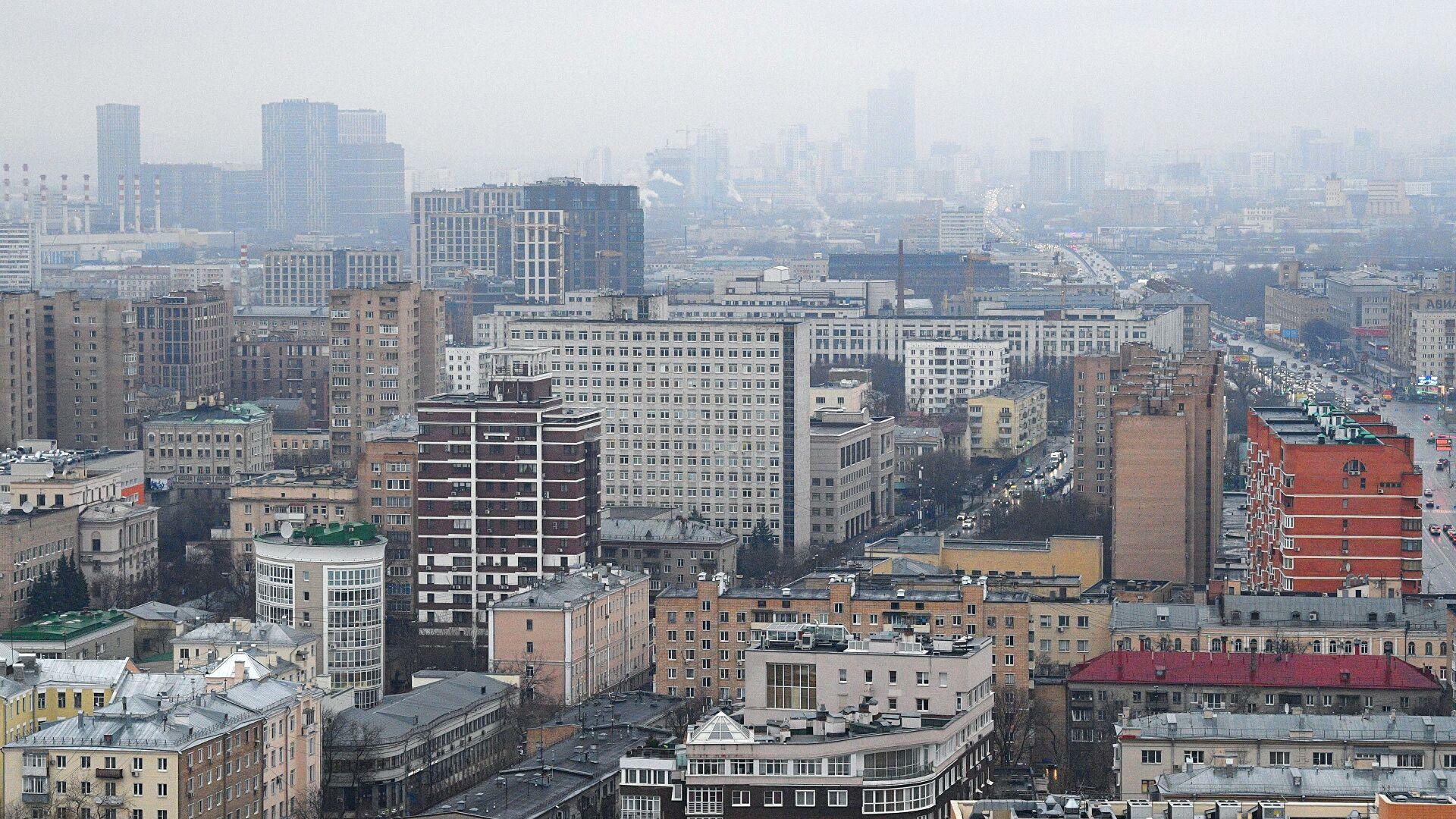 Загрязнение районов Москвы